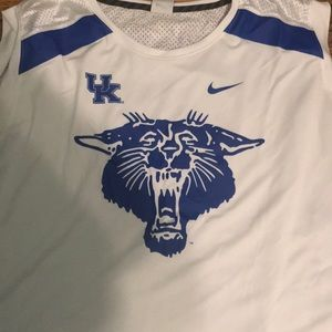 University of Kentucky basketball jersey.